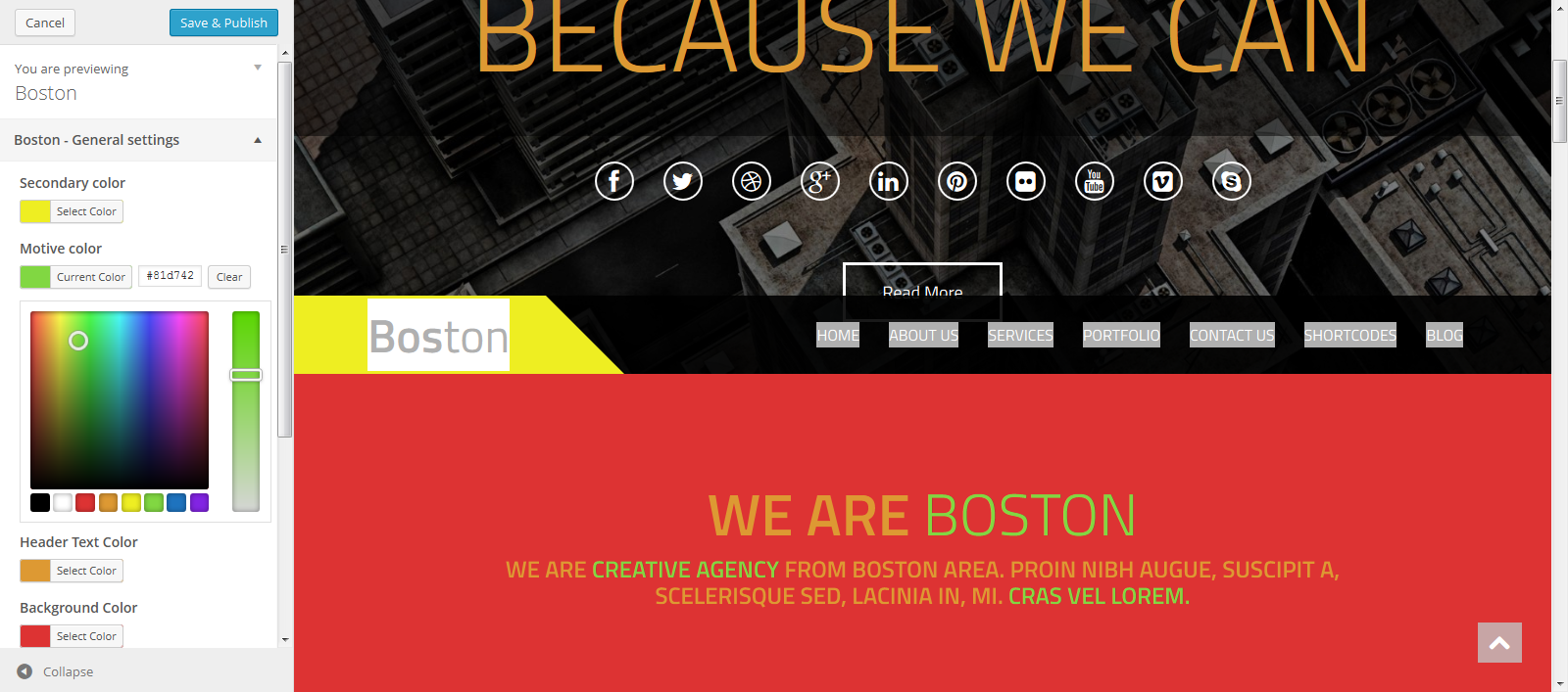Customize Boston — WordPress2