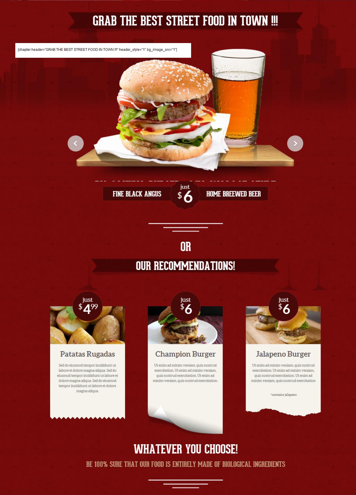 """Burger Lover background """"1"""""""