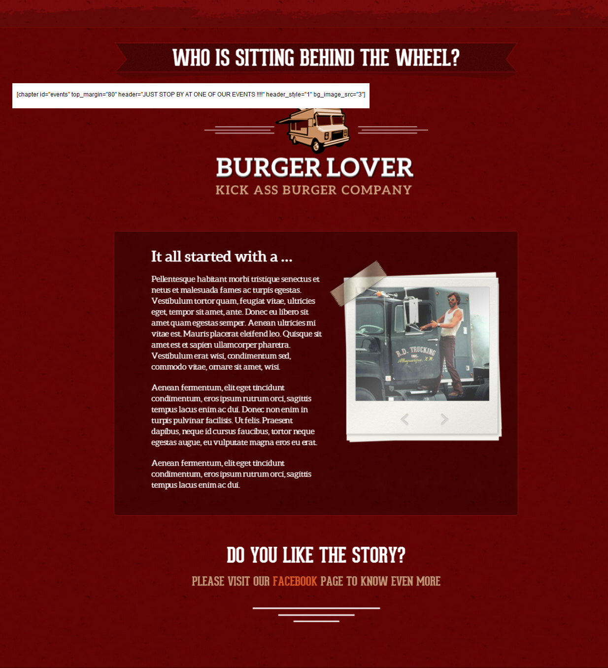 "Burger Lover - section ""4"" background"