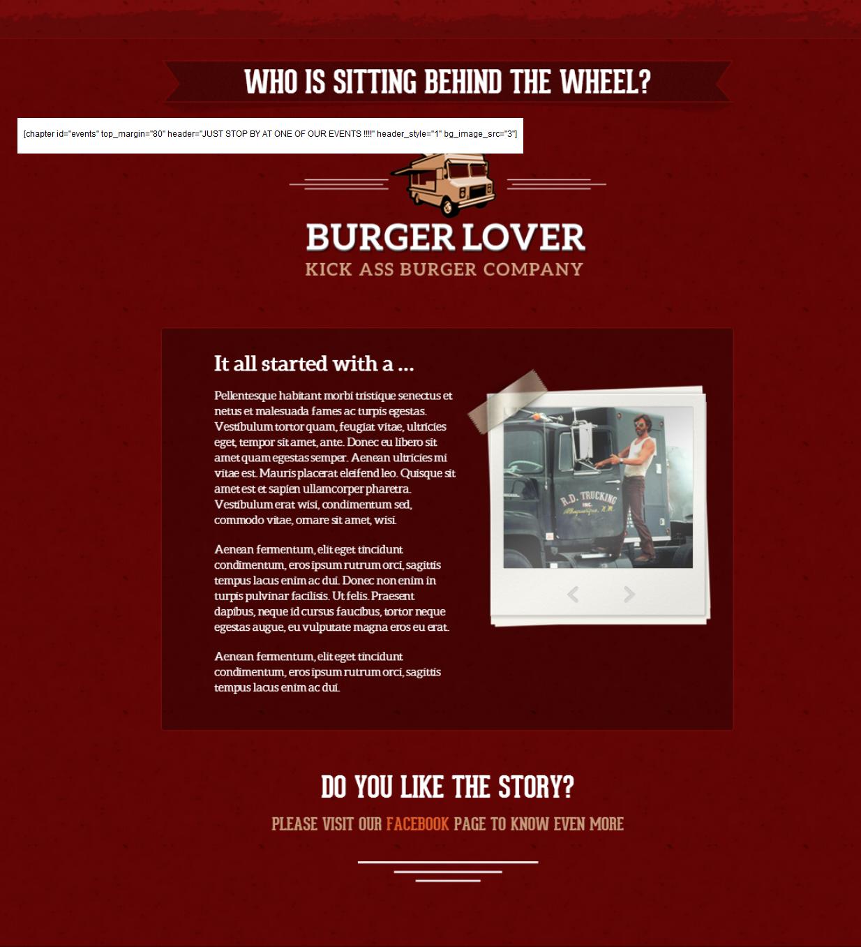 "Burger Lover - section ""4"" background"