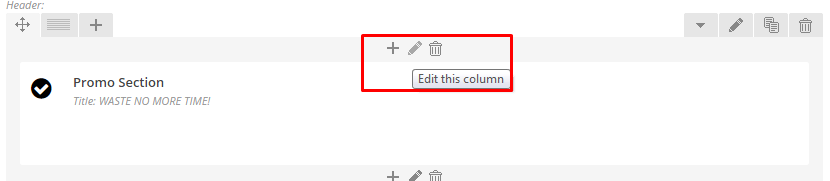 Click pen to edit column.