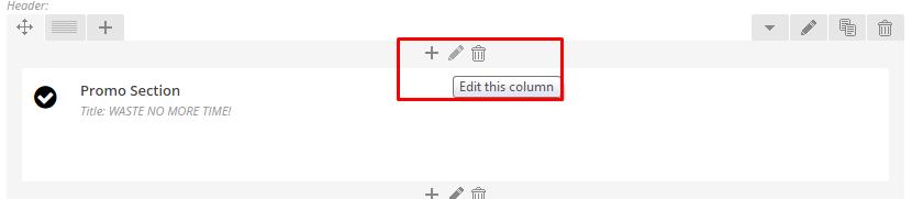 Click pen to edit column.