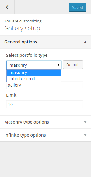 Gallery general options