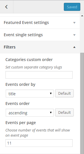 Event Filters