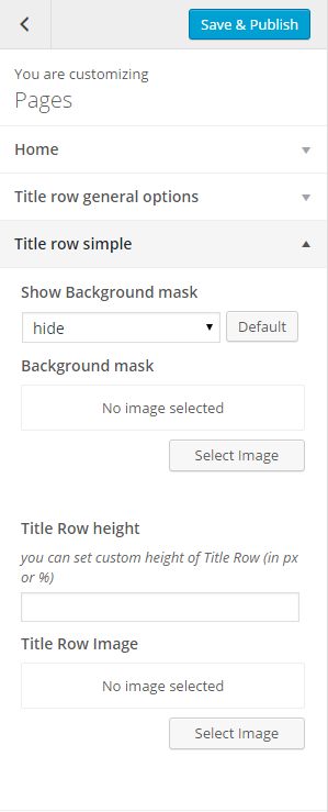 Pages title row simple