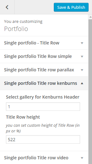 Single portfolio title row kenburns