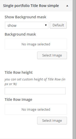 Single portfolio title row simple