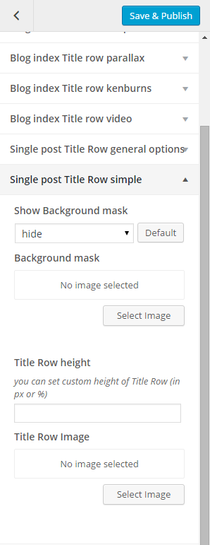 Simple post title row single options