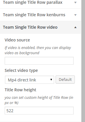 Team single row video