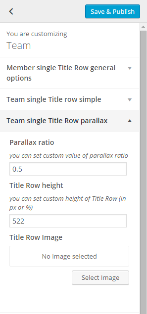 Team single title row parallax