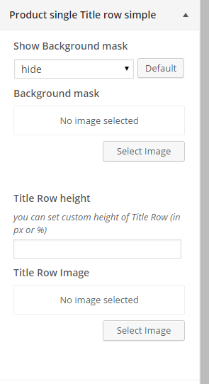 Woocommerce product single title row simple