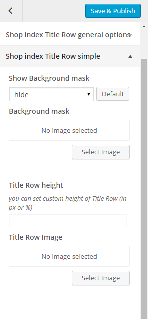 Woocommerce shop index title row simple